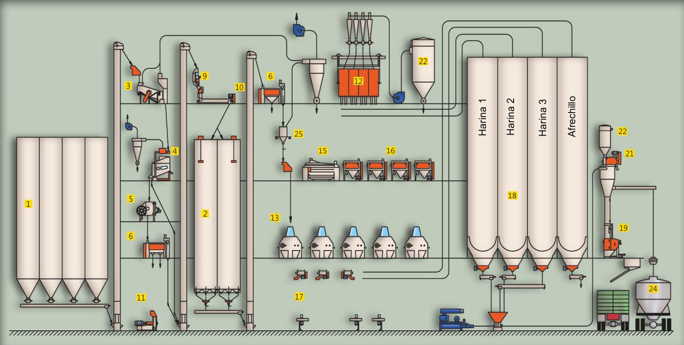 Diseño del proceso de molienda de trigo